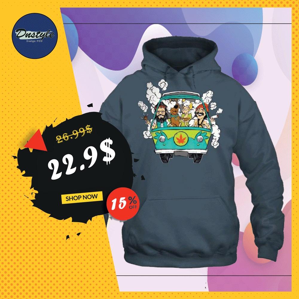 Scooby-Doo smoke weed in hippie car hoodie