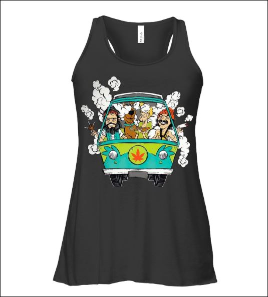 Scooby-Doo smoke weed in hippie car tank top