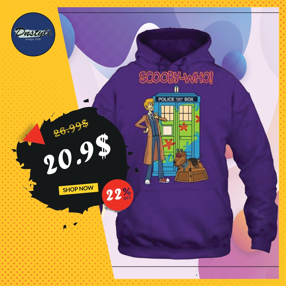 Scooby-who police public call box hoodie