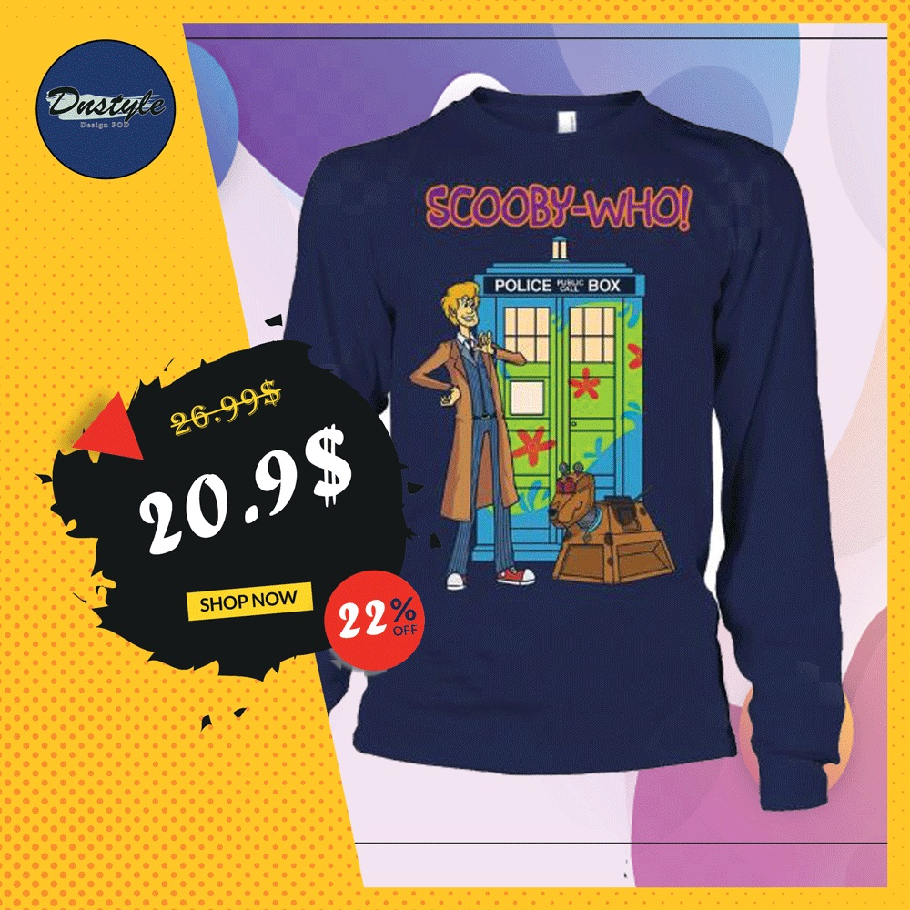 Scooby-who police public call box long sleeved