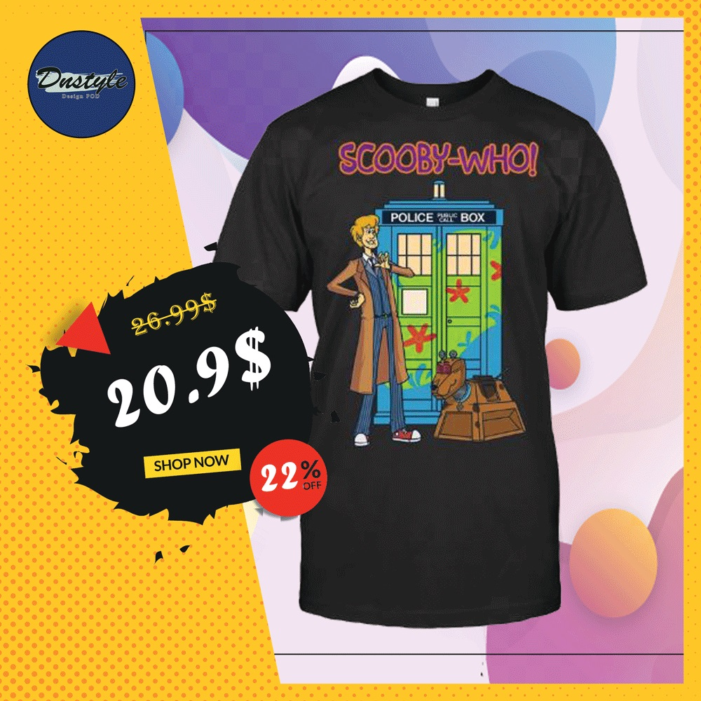 Scooby-who police public call box shirt