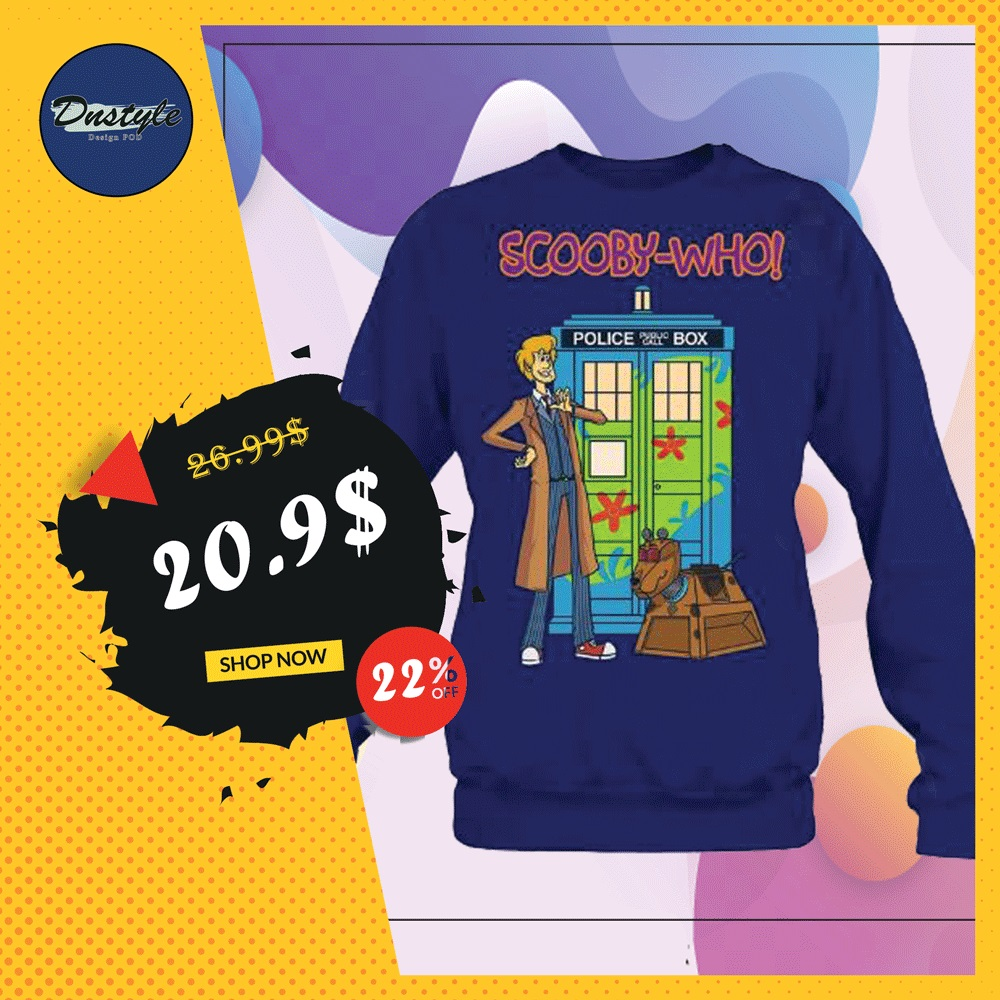 Scooby-who police public call box sweater