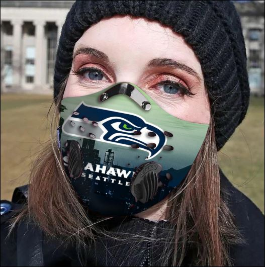 Seattle Seahawks filter activated carbon face mask