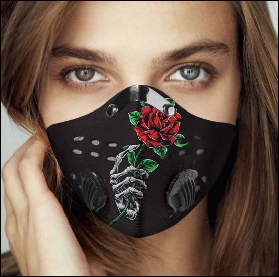 Skeleton rose filter activated carbon Pm 2.5 Fm face mask