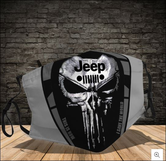 Skull Jeep this is how i save the world face mask