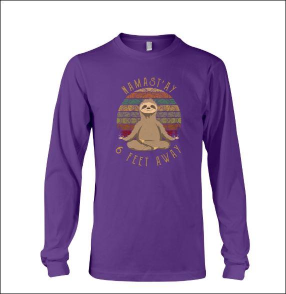 Sloth namast'ay 6 feet away sweater