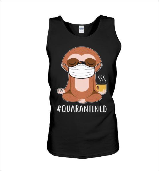 Sloth wear mask doing namaste quarantined tank top