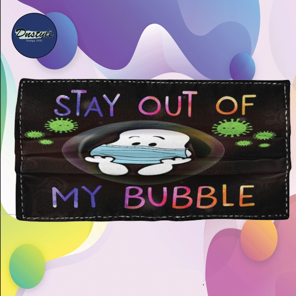 Snoopy stay out of my bubble cloth face mask