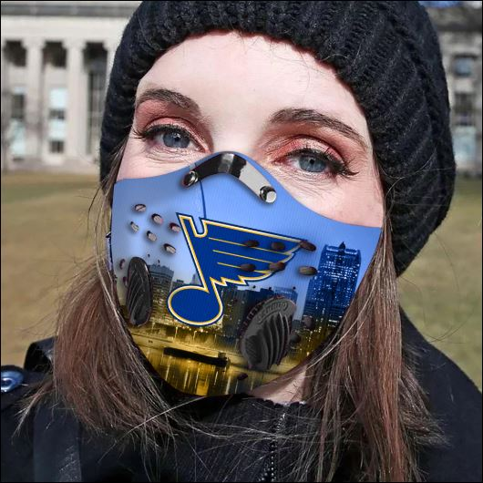 St. Louis Blues filter activated carbon face mask