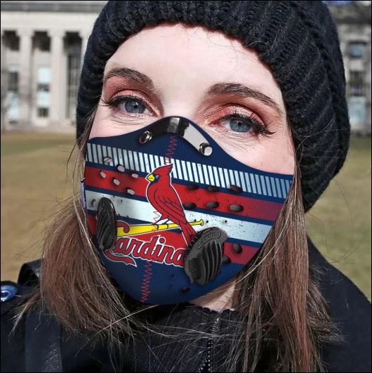 St. Louis Cardinals filter activated carbon face mask