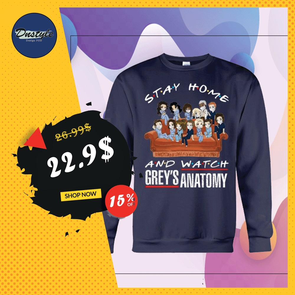 Stay home and watch Grey's Anatomy sweater