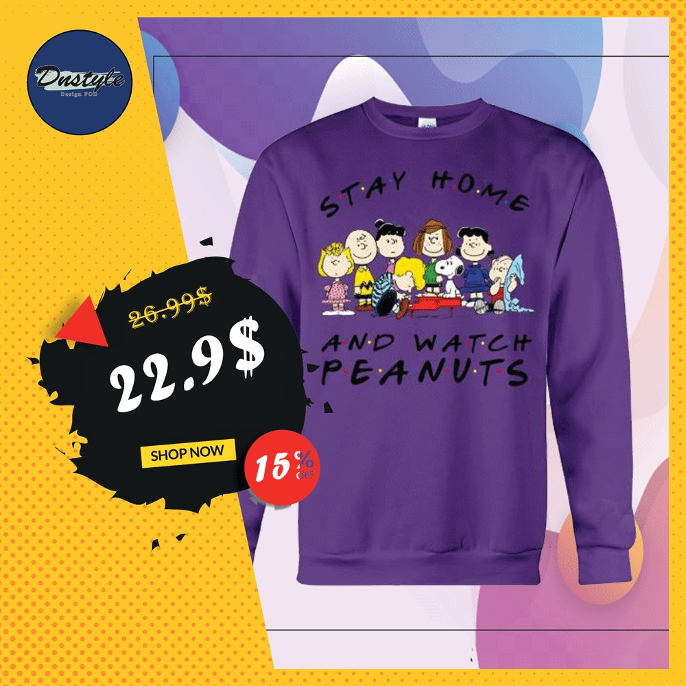 Stay home and watch Peanuts sweater