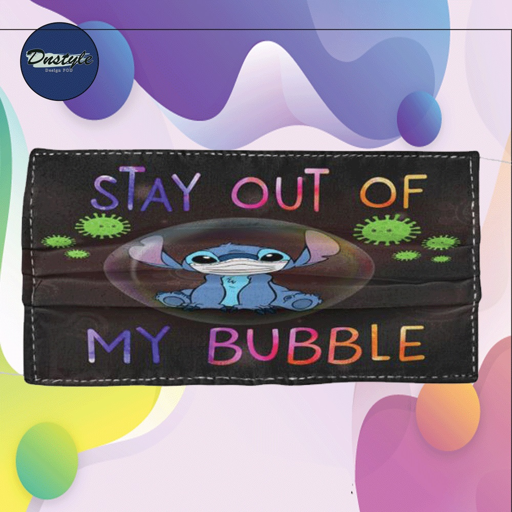 Stitch stay out of my bubble cloth face mask