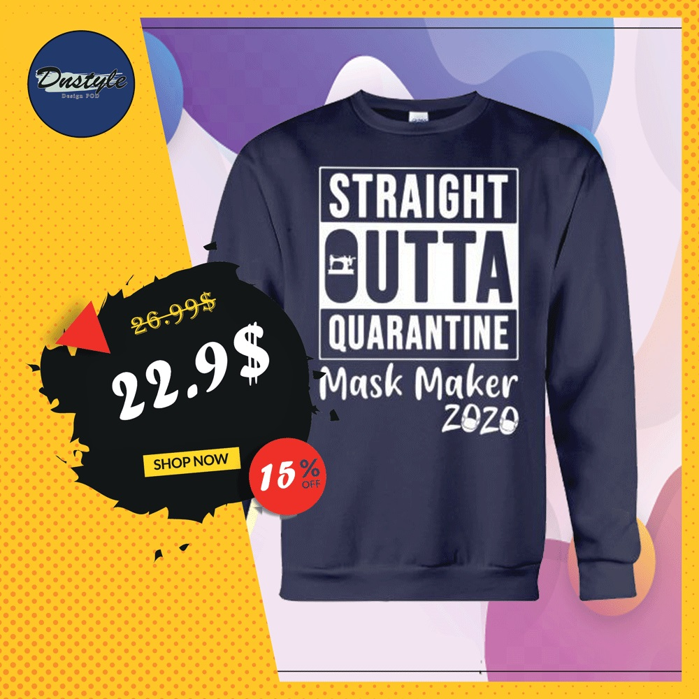Straight outta quarantine mask maker 2020 sweater