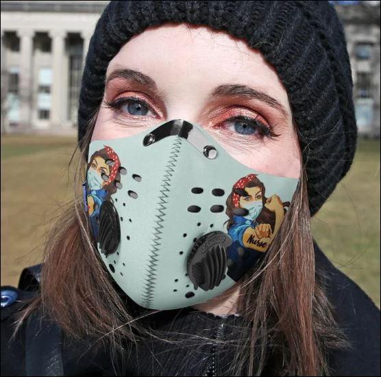 Strong nurse nancy activated carbon Pm 2.5 Fm face mask