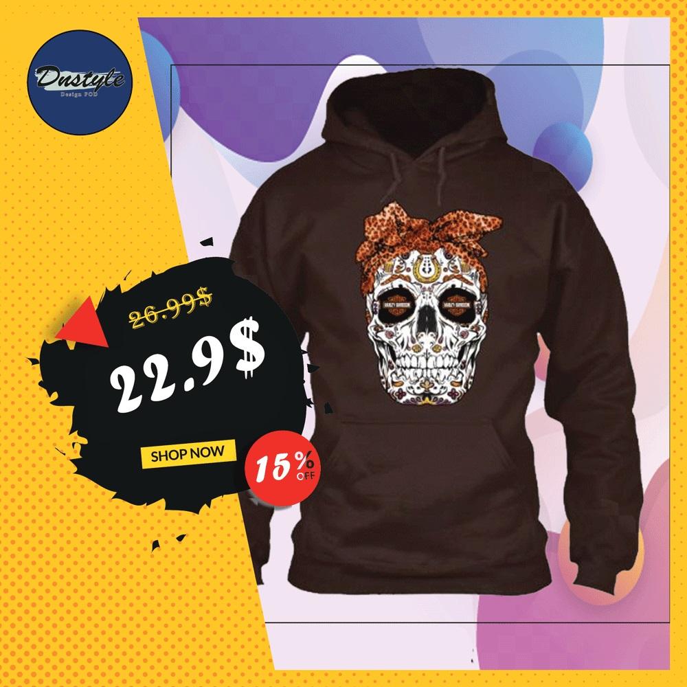 Sugar skull Harley Davidson hoodie