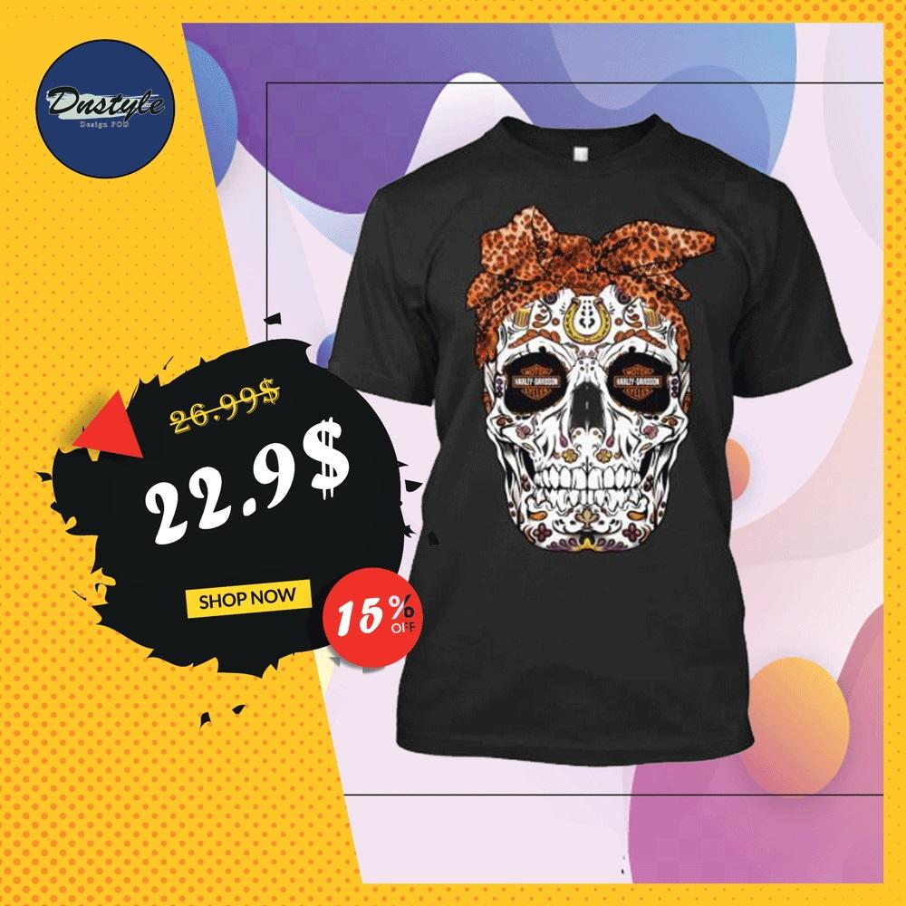 Sugar skull Harley Davidson shirt