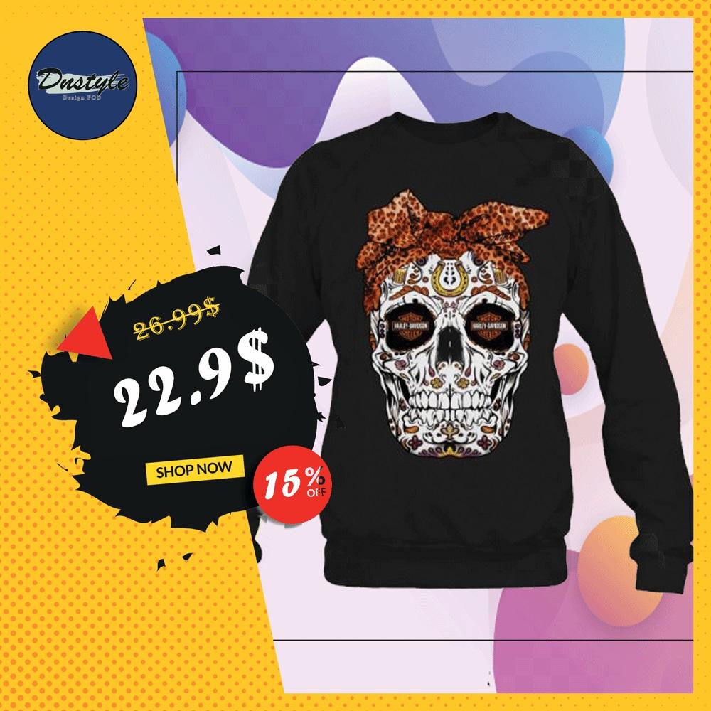 Sugar skull Harley Davidson sweater