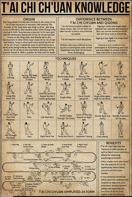 T'ai chi ch'uan knowledge poster