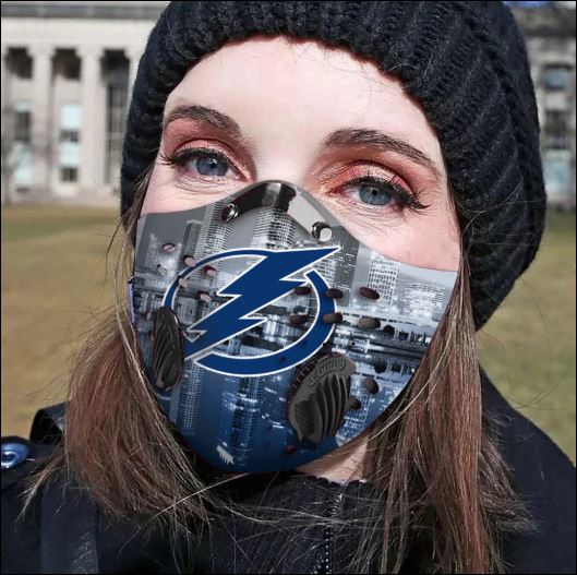 Tampa Bay Lightning filter activated carbon face mask
