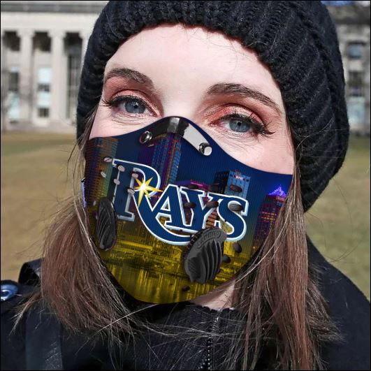 Tampa Bay Rays filter activated carbon face mask