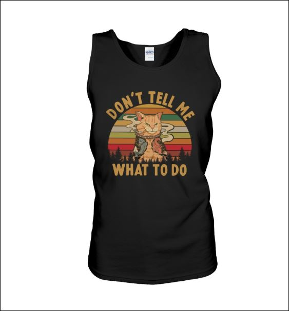 Tattoo cat don't tell me what to do vintage tank top
