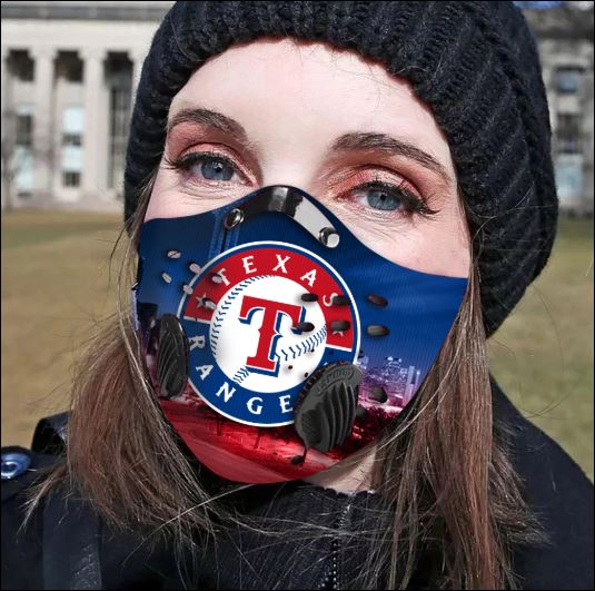 Texas Rangers filter activated carbon face mask