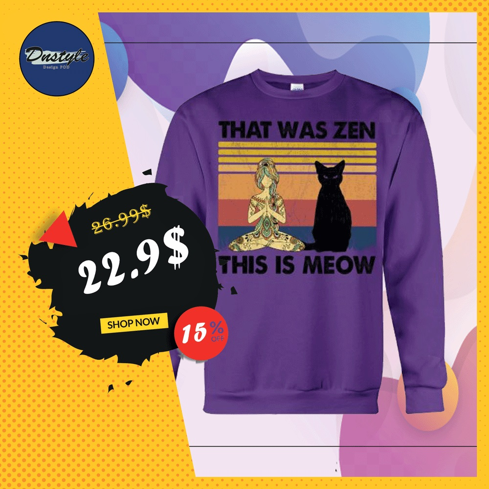 Yoga that was zen this is meow vintage sweater