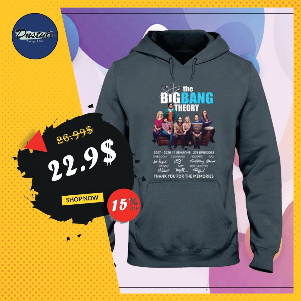 The Big Bang Theory 2007 2020 12 seasons 279 episodes signatures hoodie