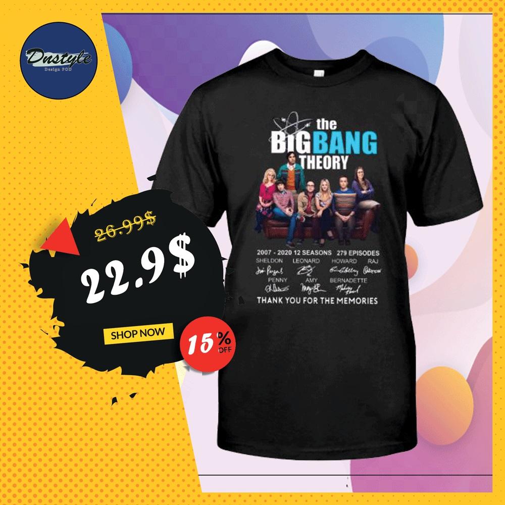 The Big Bang Theory 2007 2020 12 seasons 279 episodes signatures shirt