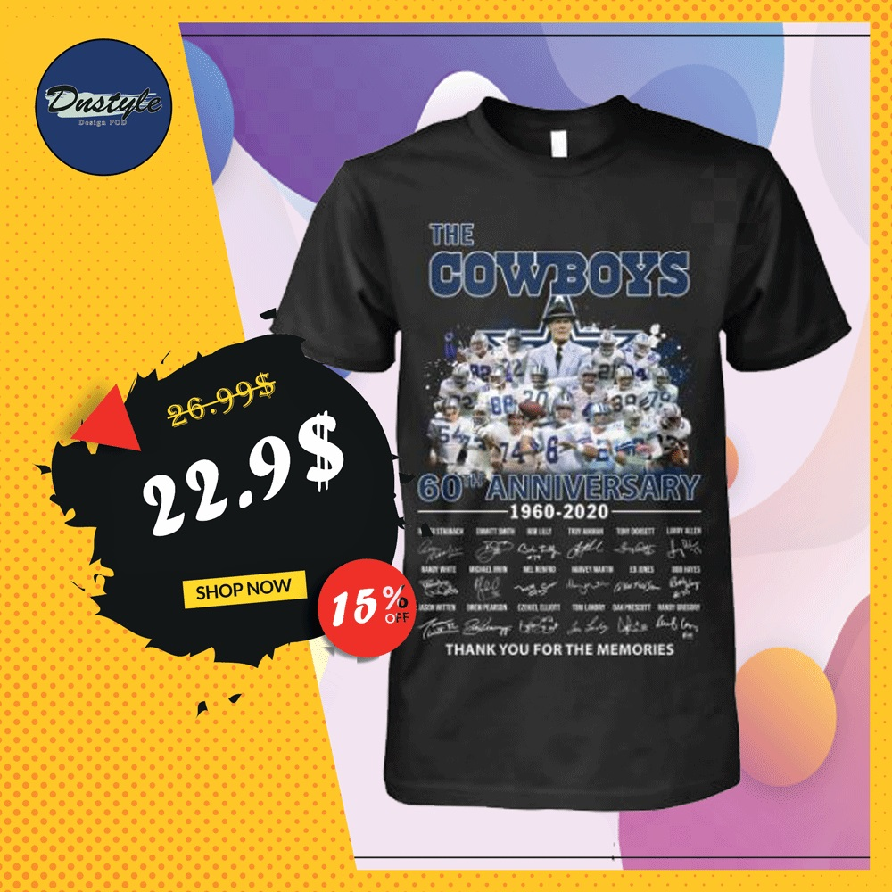 The Cowboys 60th anniversary 1960 2020 all player signatures shirt