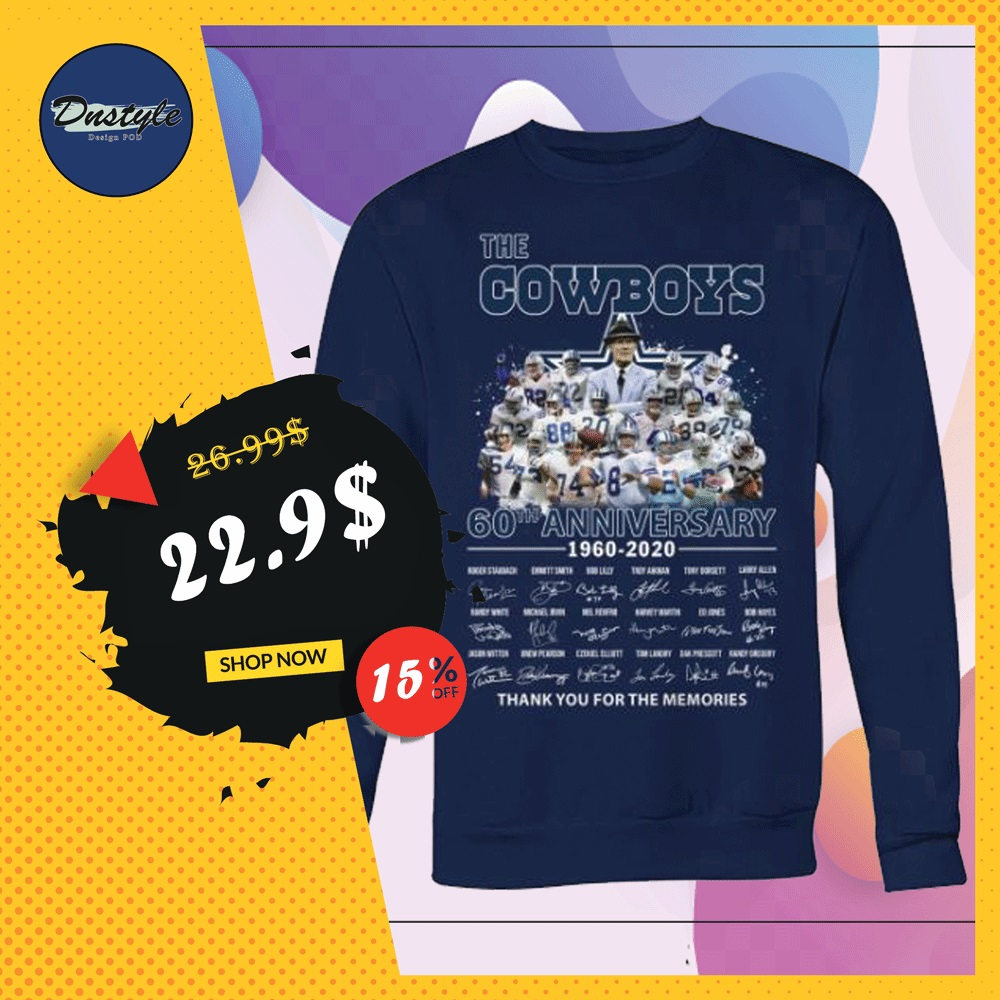 The Cowboys 60th anniversary 1960 2020 all player signatures sweater
