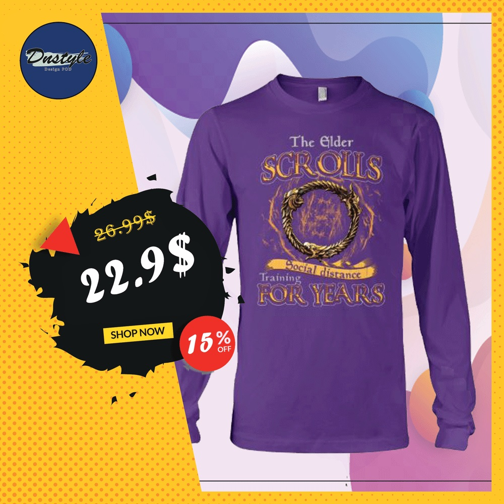 The elder scrolls social distance training for years long sleeved