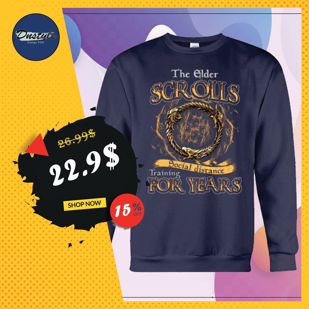 The elder scrolls social distance training for years sweater