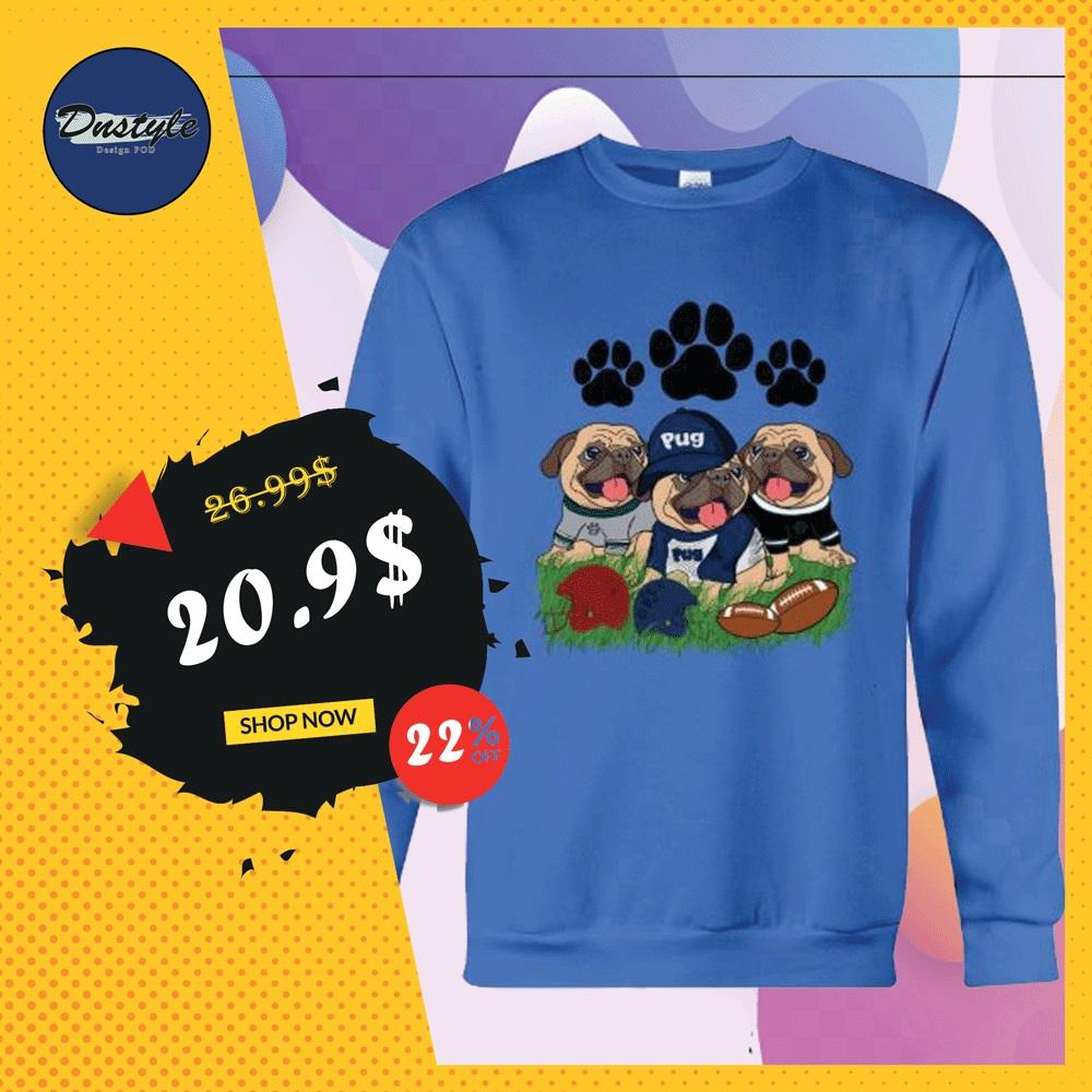 Three pugs football sweater