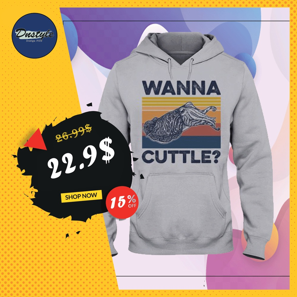 Wanna cuttle vintage hoodie