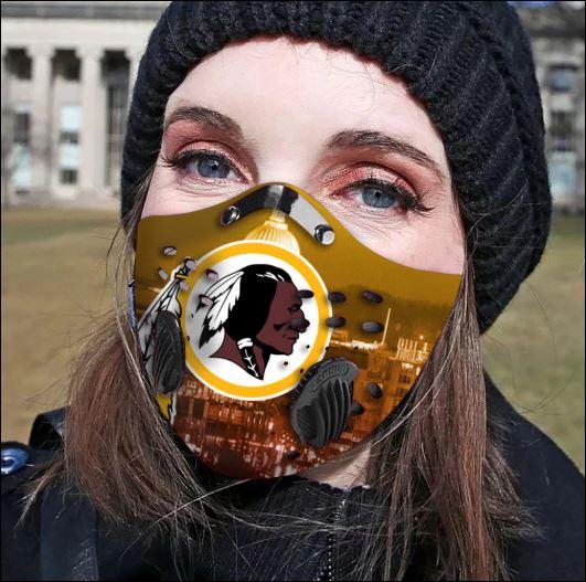 Washington Redskins filter activated carbon face mask