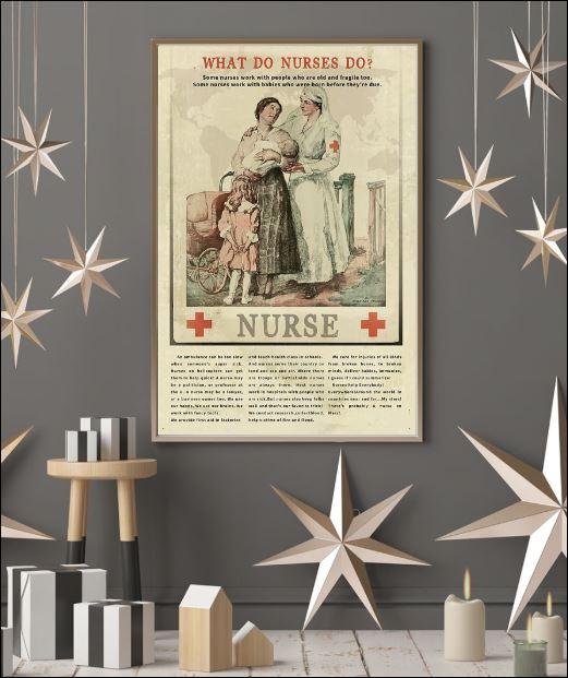 What do nurses do poster