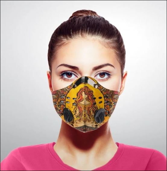 Yoga namaste girl activated carbon Pm 2.5 Fm face mask