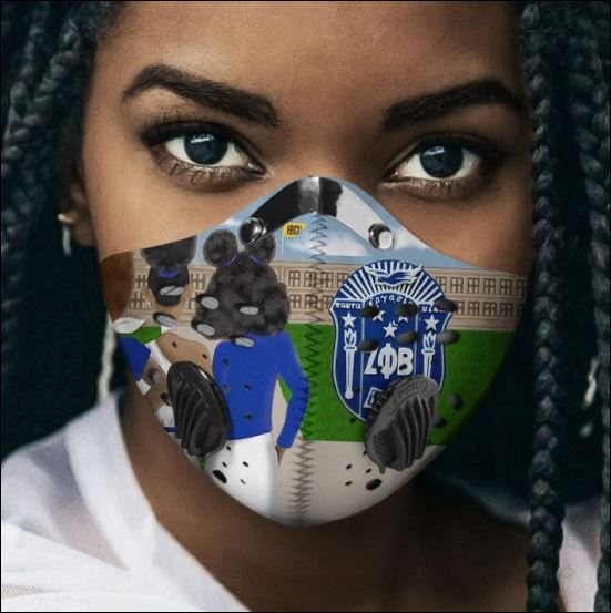 Zeta Phi Beta filter activated carbon Pm 2.5 Fm face mask