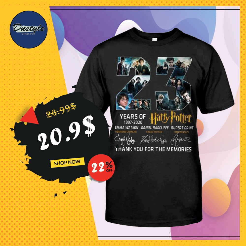 23 years of Harry Potter shirt