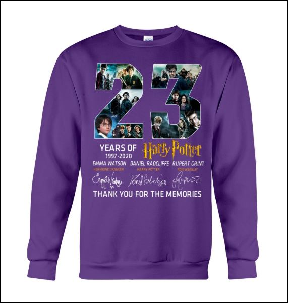 23 years of Harry Potter sweater