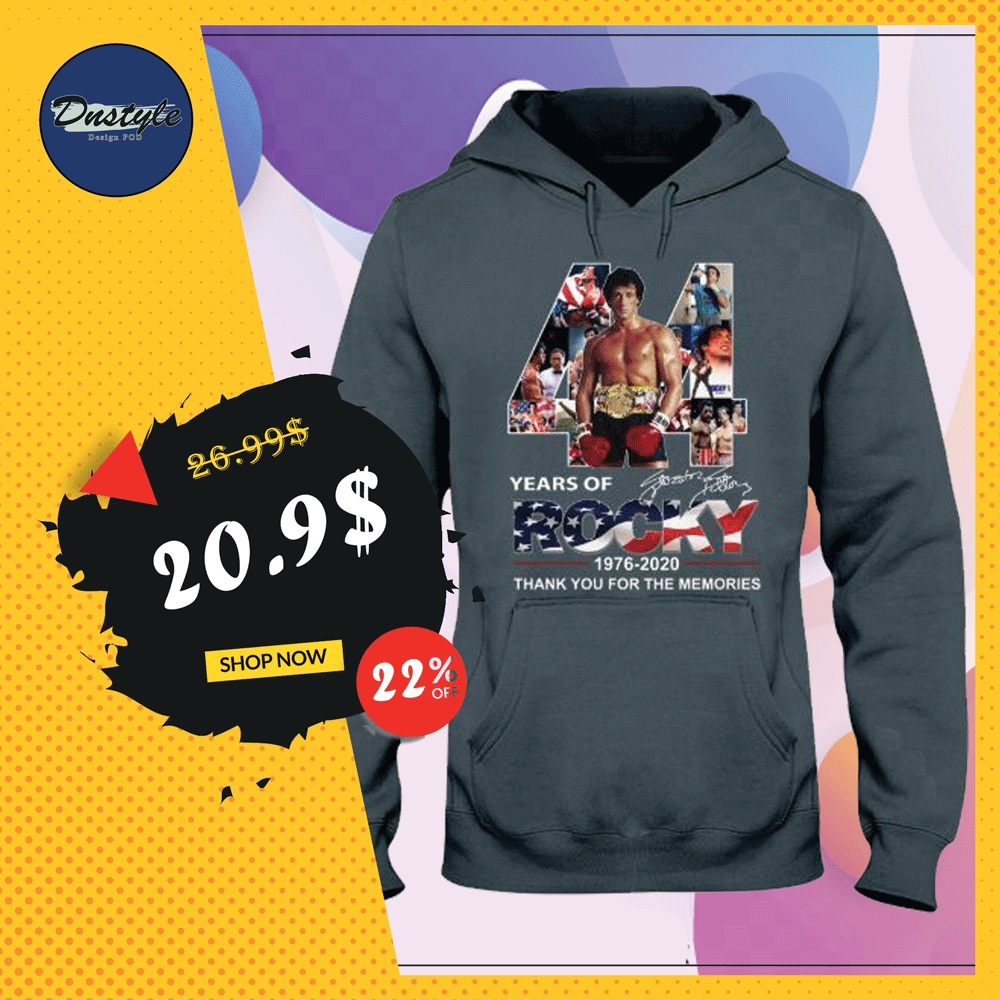 44 years of Rocky hoodie