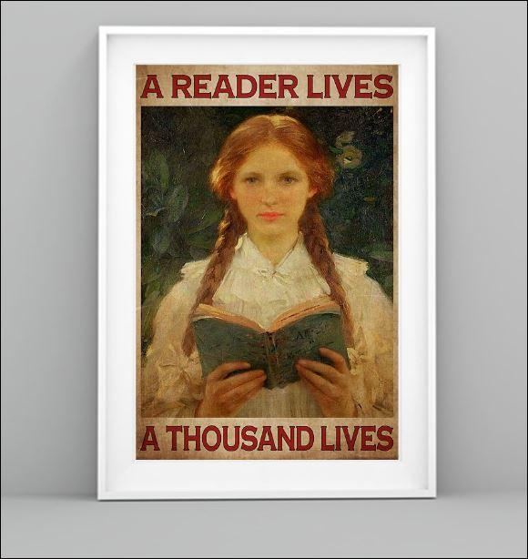 A reader lives a thousand lives poster 1