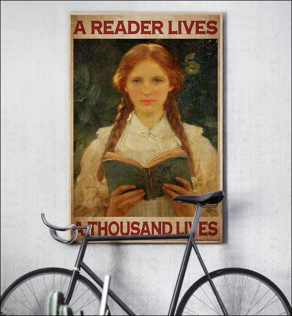 A reader lives a thousand lives poster 2