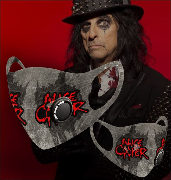 Alice Cooper filter activated carbon face mask