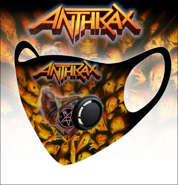 Anthrax filter activated carbon face mask