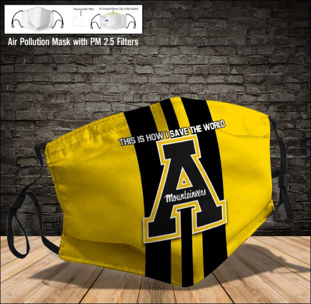 Appalachian State Mountaineers face mask