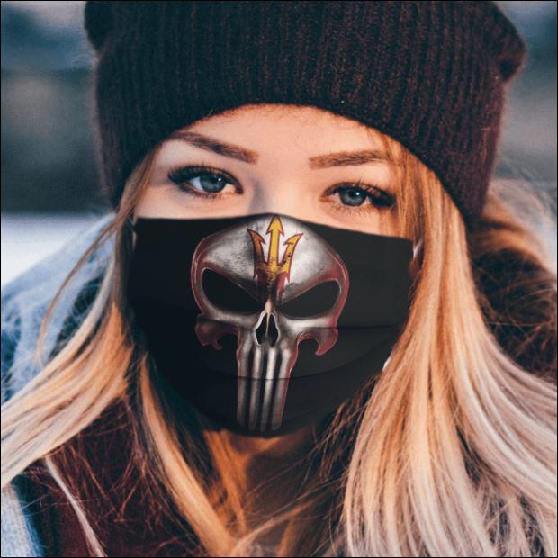 Arizona State Sun Devils The Punisher face mask