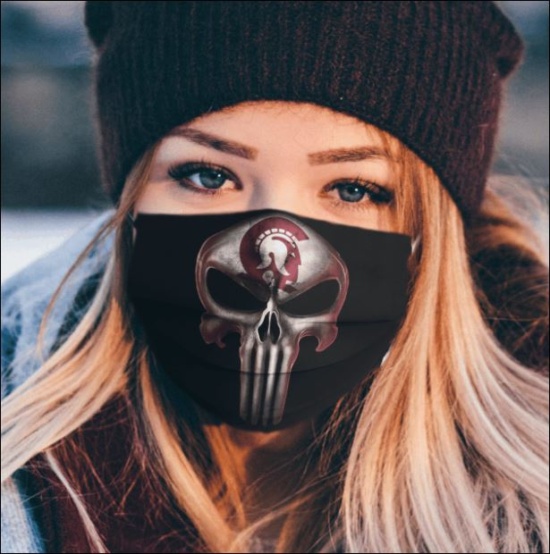 Arkansas Little Rock Trojans The Punisher face mask